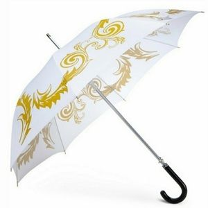 Versace Umbrella Large Gold and White Medusa NEW
